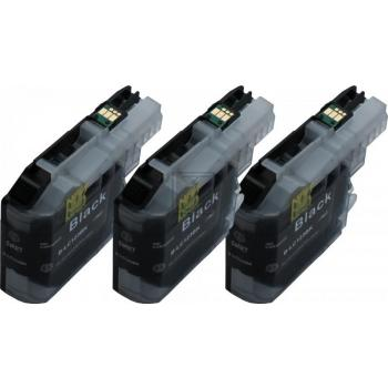 3 Compatible Ink Cartridges to Brother LC123  (BK) XL