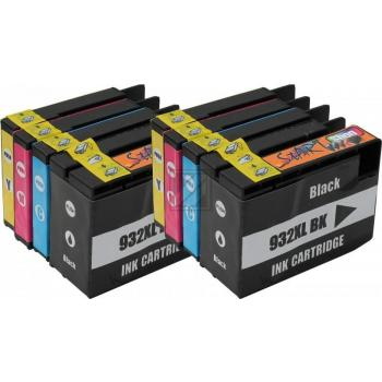 8 Compatible Ink Cartridges to HP HP932 + HP933  (BK, C, M, Y)