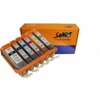 6 Compatible Ink Cartridges to Canon PGI-570 / CLI-571  (BK, PHBK, C, M, Y, GY) XL