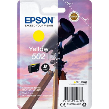 Epson Tintenpatrone gelb SC (C13T02V44010, 502)