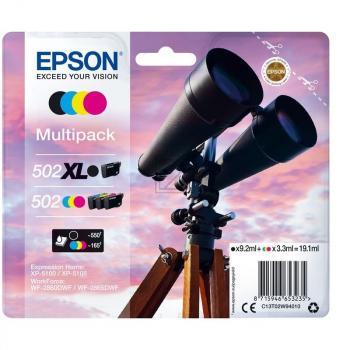 Epson Tintenpatrone gelb, cyan, magenta, schwarz HC (C13T02W94010, 502XL)