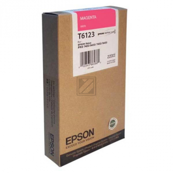 Epson Tintenpatrone magenta HC (C13T612300, T6123)
