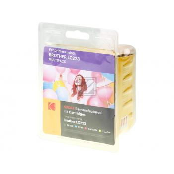 Kodak Tintenpatrone gelb, cyan, schwarz, magenta (185B022321) ersetzt LC-223VALBP