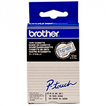 BROTHER P-TOUCH 12MM FARBLOS/ BLAU