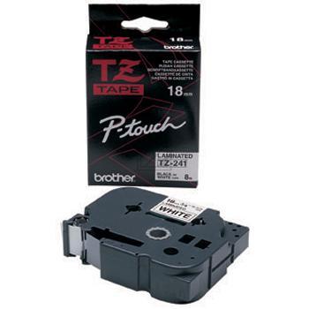 Brother Schriftbandkassette schwarz/weiß (TZE-241)