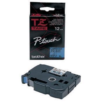 BROTHER P-TOUCH 12MM BLAU/ SCHWARZ #22426 NEU TZE531