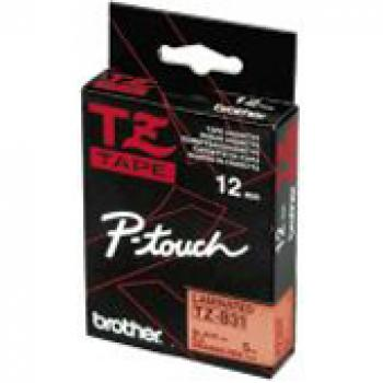 BROTHER P-TOUCH 12MM SIGNAL ORANGE/SCHWARZ NEU TZE-B31    T