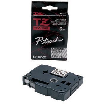 Brother Schriftbandkassette schwarz/transparent (TZE-111)