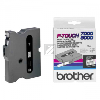 BROTHER P-TOUCH 12MM FARBLOS/ SCHWARZ