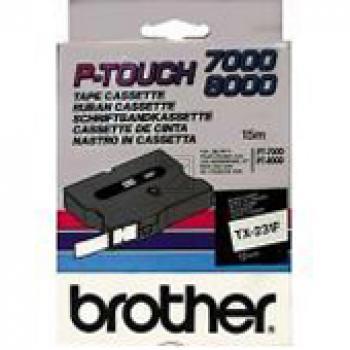 BROTHER P-TOUCH 12MM WEIß/SCHW