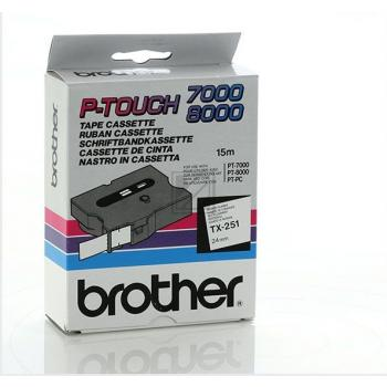 BROTHER P-TOUCH 24MM WEIß/SCHW