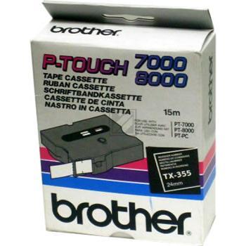 BROTHER P-TOUCH 24MM SCHW/WEIß SCHWARZ/WEIß 24MM ORIGINAL #TX355