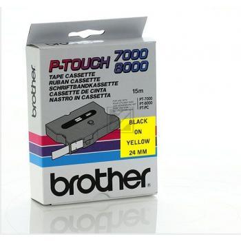 BROTHER P-TOUCH 24MM GELB/SCHW GELB/SCHWARZ 24MM ORIGINAL #TX651