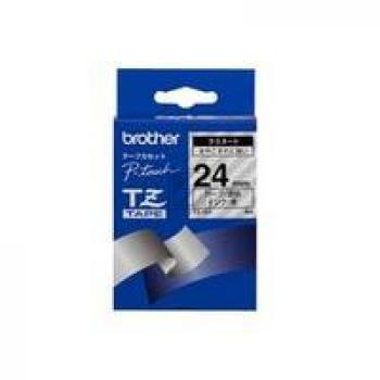 BROTHER P-TOUCH 24MM FARBLOS/ SCHWARZ #22451 NEU TZE15E