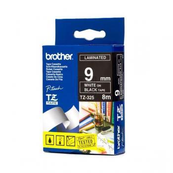 BROTHER P-TOUCH 9MM SCHWARZ/ WEIß #22418  TZE-325