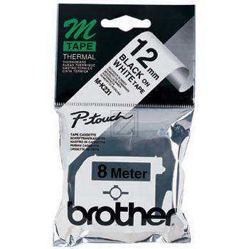 BROTHER P-TOUCH 12MM SCHWARZ AUF WEISS 8M #MK231BZ
