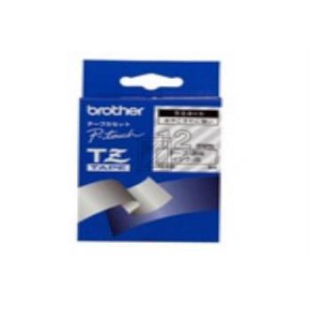 BROTHER PTOUCH TZE135 | 12mm/8m, BROTHER Schriftbandkassette, weiss auf klar