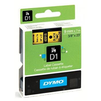 Dymo Schriftbandkassette schwarz/gelb (40918)
