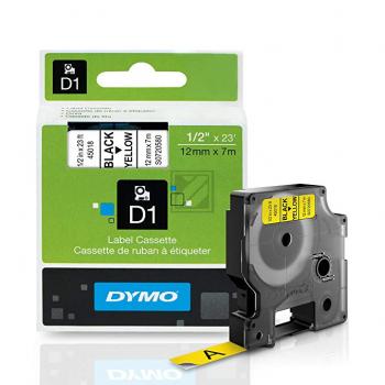 Dymo Schriftbandkassette schwarz/gelb (45018)