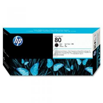 HP 80 | Combopack, HP Druckkopf und Reiniger, schwarz