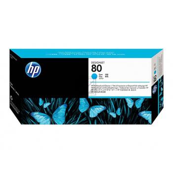 HP DJ 1050C/1055CM DRUCKKOPF/ DRUCKKOPFREINIGER NO.80 CYAN