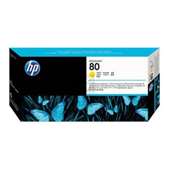HP 80 | Combopack, HP Druckkopf und Reiniger, gelb