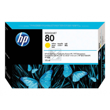 Hewlett Packard Tintenpatrone gelb (C4873A, 80)