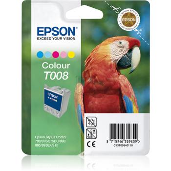 EPSON T008   220 Seiten, EPSON Tintenpatrone, farbig