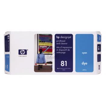 Original HP C4951A / 81 Tinte Cyan