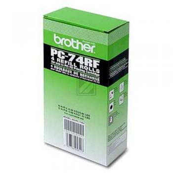 Brother Thermo-Transfer-Rolle schwarz 4-er Pack (PC-74RF)