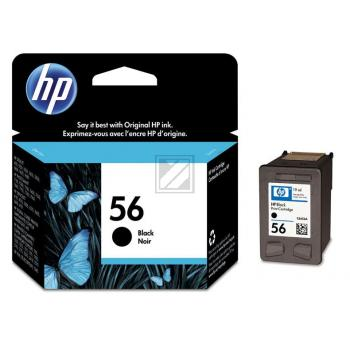 Hewlett Packard Tintenpatrone schwarz High-Capacity (C6656AE, 56)