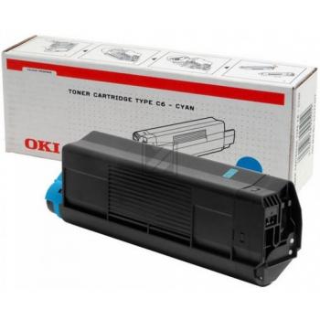 OKI Toner-Kit cyan HC (42127407, TYPE-C6)