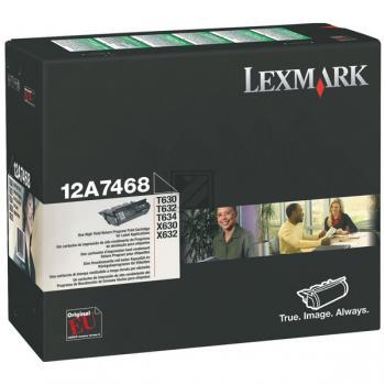 LEXMARK 12A7468   LABEL   21000 Seiten, LEXMARK Tonerkassette, schwarz
