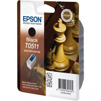 Original Epson C13T05114010 / T0511 Tinte Schwarz