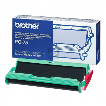 Brother Mehrfachkassette + 1 Thermo-Transfer-Rolle schwarz (PC-75)