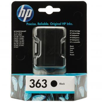 Hewlett Packard Tintenpatrone schwarz (C8721EE, 363)