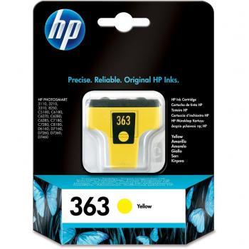 Hewlett Packard Tintenpatrone gelb (C8773EE, 363)