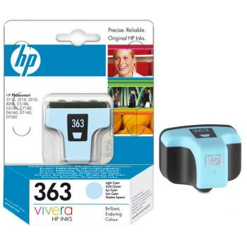Hewlett Packard Tintenpatrone cyan light (C8774EE, 363)