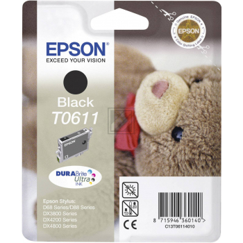 Epson Tintenpatrone schwarz (C13T06114010, T0611)