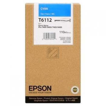 Original Epson C13T611200 / T6112 Tinte Cyan