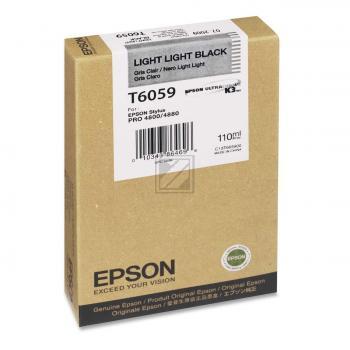 Epson Tintenpatrone Ultra Chrome K3 schwarz light, light (C13T605900, T6059)