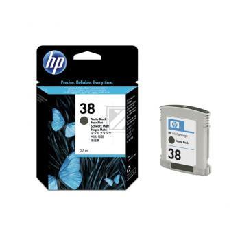 Hewlett Packard Tintenpatrone schwarz matt (C9412A, 38)