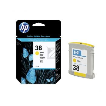 Hewlett Packard Tintenpatrone gelb (C9417A, 38)