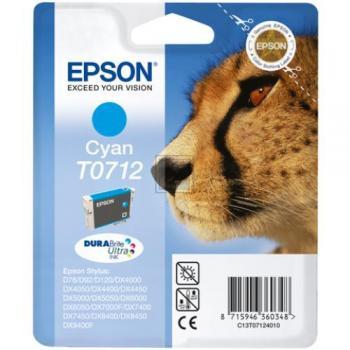 Epson Tintenpatrone cyan High-Capacity (C13T07124010, T0712)