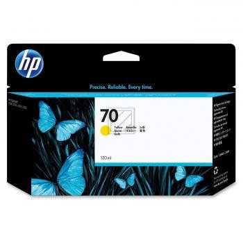 Hewlett Packard Tintenpatrone gelb (C9454A, 70)