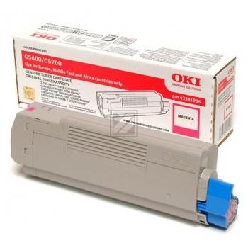 OKI Toner-Kit magenta (43324406 43381906)