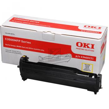 OKI Fotoleitertrommel gelb (43460221)