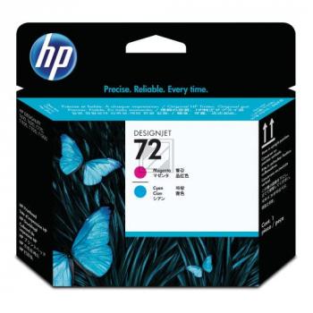 HP 72, HP Druckkopf, magenta und cyan