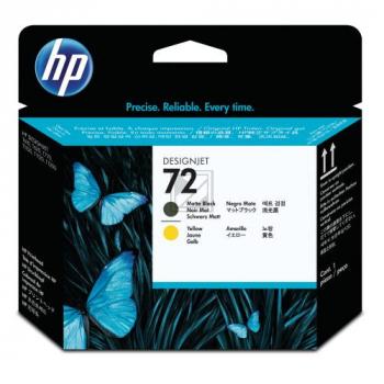 HP 72, HP Druckkopf, schwarz matt und gelb