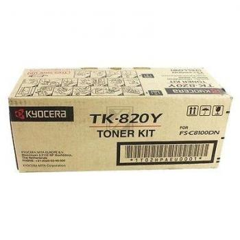 KYOCERA TK820Y | 7000 Seiten, KYOCERA Tonerkassette, gelb
